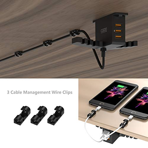 amazon com headphone stand with usb charger cozoo under desk rh amazon com