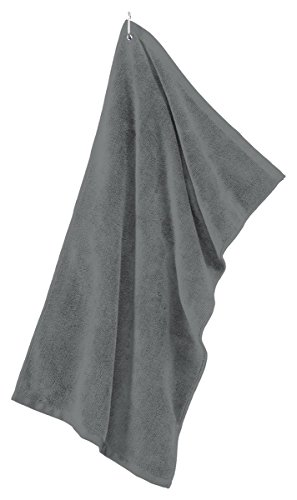 Port Authority Grommeted Microfiber Golf Towel. TW530 - Deep Smoke TW530 OS