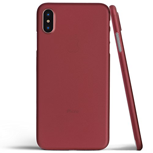 totallee iPhone X Case, Thinnest Cover Premium Fit Thin Ultra Thin Light Slim Minimal Anti-Scratch Protective - for Apple iPhone X (2017) (Burgundy Red)