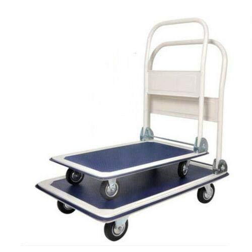 Live4Gadget Heavy Duty Folding Trolley Cart 150Kg Platform Flat Hand Barrow Sack comfortable