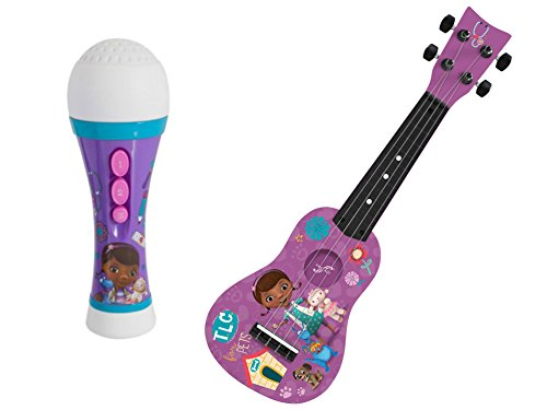Doc Mcstuffins Stuffy Dragon Costume (First Act Disney Doc McStuffins Microphone and First Act Disney Doc McStuffins Mini Guitar, Purple)
