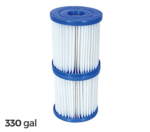 58093 Kit 2 repuesto filtros Bestway 1249 L / H piscina motor de 330 galones: Amazon.es: Hogar