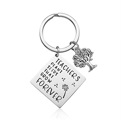 iJuqi Teacher Appreciation Gift - Teachers Plant Seeds That Grow Forever Teacher Keychain for Women Thank You Gifts for Teachers Christmas Gifts for Teachers