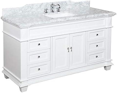 Amazon Com Elizabeth 60 Inch Single Bathroom Vanity Carrara