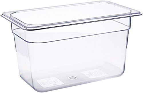 Crestware Polycarbonate Food Pan Fourth Size 6-Inch by Crestware