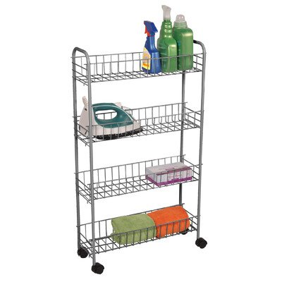 Utility Cart Frame Finish: Satin Nickel / Silver