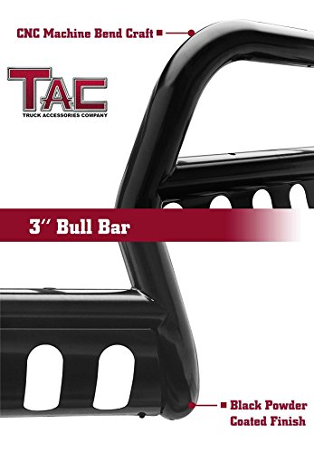 Renewed TAC Bull Bar for 2008-2010 Ford F250//F350//F450//F550 Super Duty Truck Pickup 3 inches Black Front Bumper Guard Grille Guard Brush Push Nudge Guard Off Road Accessories