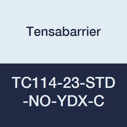 Blue 76 Length Tensabarrier TC114-23-STD-NO-YDX-C Cone Topper Yellow Danger Keep Out Belt 2 Wide