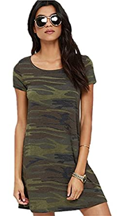 Sexy camouflage camo army green printed mini t for Green camo shirt outfit