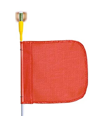 Flagstaff G8 Safety Flag with Flashing Light, Threaded Hex Base
