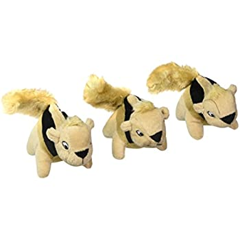 Squeakin' Animals Squeaky Plush Dog Toys, Replacement Hide a Squirrel Squeak Toys by Outward Hound, 3 pack