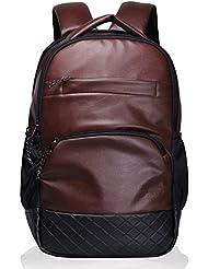 stylish Genuine Leather Backpack Laptop Bag Travel Rucksack Schoolbag Shoulder Daypack for Men