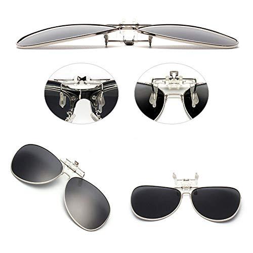 Lentille Polarisation Des Conduite soleil pour Pêche UV400 lunettes Clip Hzjundasi Flip on l'extérieur de Mixte Protection Aviator Vert up lunettes fFCRn