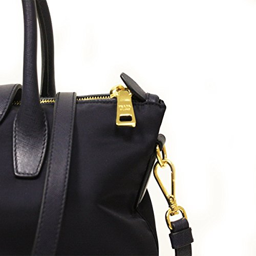 eee053795f3c 80690 c3d56; czech prada bn2106 bleu tessuto saffian navy blue nylon and leather  shopping tote bag handbags amazon
