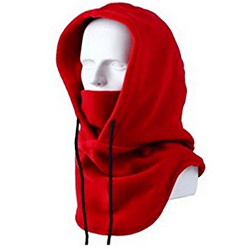 BeLe Balaclava Face Mask Winter Fleece Heavyweight Hood Outdoor Windproof Sport Mask (Wine Red) ()