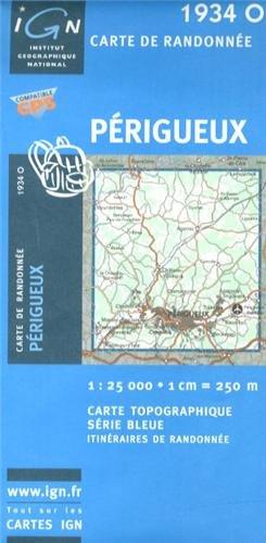 1934o Perigueux Carte – Carte pliée, 1 août 2010 IGN 2758521636 Karten / Stadtpläne / Europa Frankreich
