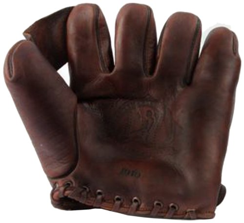 Old Time Baseball Mitt (Shoeless Joe Gloves 1910 Fielders Glove, Brown, Right Handed)
