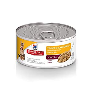 Hill's Science Diet Wet Cat Food, Adult, Tender Chicken Dinner, 5.5 oz, 24-pack 31
