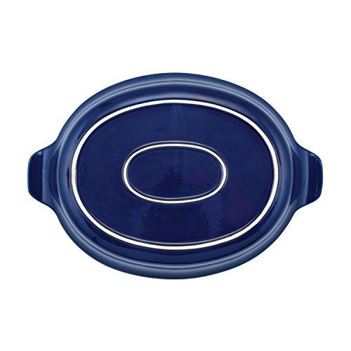 Anolon Vesta Stoneware Oval Au Gratin Pan, 2 quart, Baltic Blue by Anolon (Image #2)