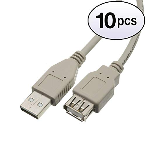 (GOWOS (10 Pack) USB 2.0 Extension Cable, Type A Male to Type A Female, 10 Feet)