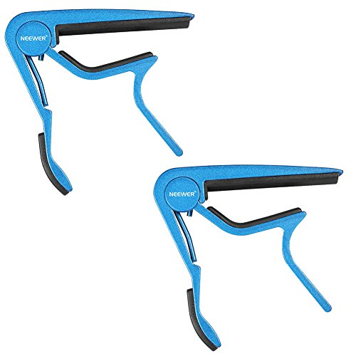 - Neewer® 2 Pack Single Handed Zinc Alloy Guitar Capo Quick Change for Acoustic 6-String and Electric Guitars(Blue)