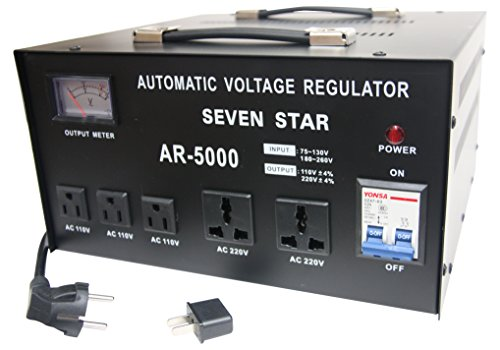 SEVENSTAR AR 5000W Heavy Duty Voltage Reglator/Stabilizer with Built-in Step Up/Down Voltage Transformer ()