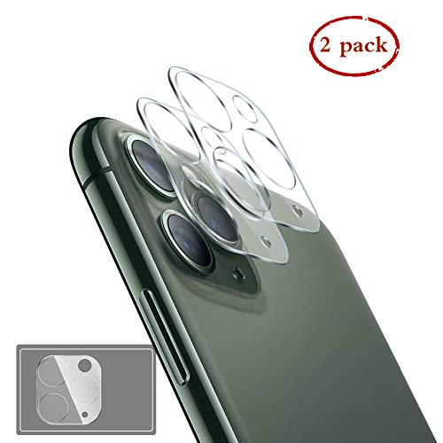 [2Pack] Camera Lens Protector for iPhone 11 Pro/iPhone 11 Pro Max Tempered Glass, Anti-Scratch 9H Hardness Ultra Transparency HD Clear Easy Install