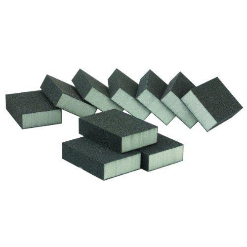 Pack of 10 Medium Grade Aluminum Oxide Sanding Sponges