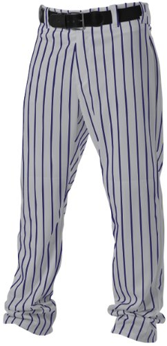 Alleson Athletic Adult Pinstripe Baseball Pants- Grey/Navy, 2X-Large ()