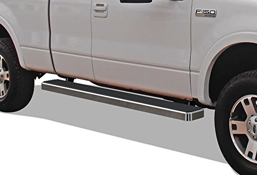 """5/"""" Oval Chrome Nerf Bars Side Steps Fit  2004-2008 Ford F-150 Super Cab Only"""