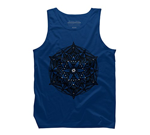 Stippled Star (Sacred Geometry Flower of Life Mandala Star Men's Large Royal Graphic Tank Top)