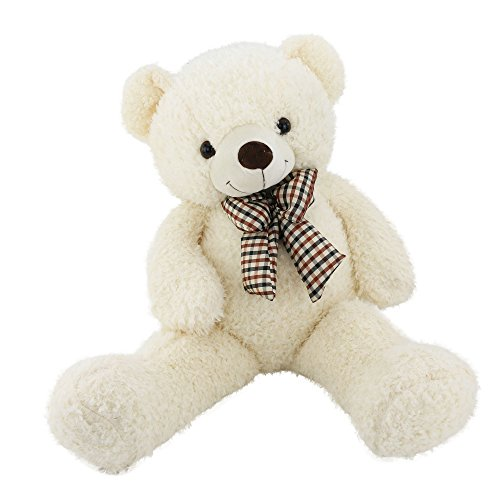 Wewill Giant Huge Cuddly and Soft Stuffed Animals Plush Teddy Bear with Bow-knot for Valentine's Day Birthday Easter Christmas Gifts, 32-Inch, (Stand Teddy)