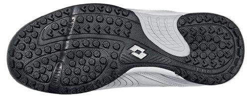 Lotto Fuerzapura L500 TF Junior Multi Chaussures à crampons, Garçon, Blanc/Bleu nuit