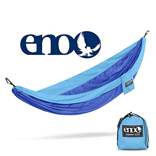 ENO – Eagles Nest Outfitters SingleNest Hammock, Portable Hammock for One, Powder Blue Royal