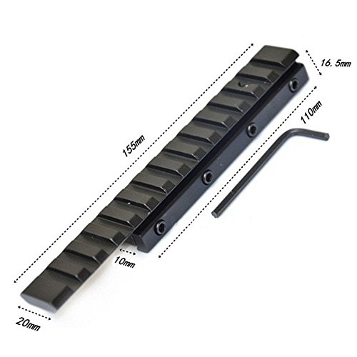 Merssavo 11mm a 20mm Convertidor de Cola de Milano a Canalizaci/ón Vertical de Weaver Picatinny Riel Adaptador Base 6.1