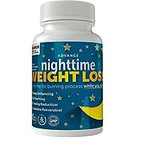 Maximum Slim Advanced Nighttime (Fat Burning) Weight Loss with African Mango, Green...