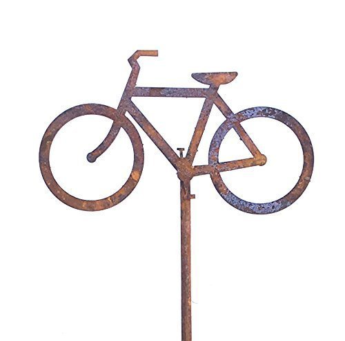 Bike Bicycle Garden Art Stake -Free Shipping- Home and Garden Décor Yard Art Decorative Sculptures (Bicycle Sculpture Garden)
