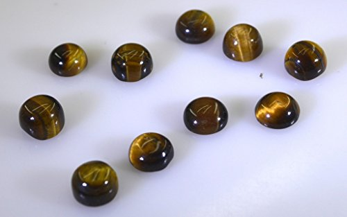 oeil de tigre pierres précieuses en vrac 1 pièces 10 x 10 mm rond brun cabochon pierres précieuses