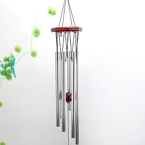 SKYC Carillon /à Vent 6 Tubes Creux en m/étal argent/é 76,2 cm pour ext/érieur Musical Carillon /à Vent pour Votre terrasse Jardin ou Jardin D/écoration int/érieure ext/érieure Jardin Porche