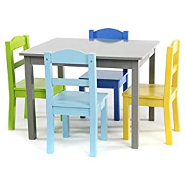Tot Tutors Summit Collection Kids Wood Table & 4 Chair Set