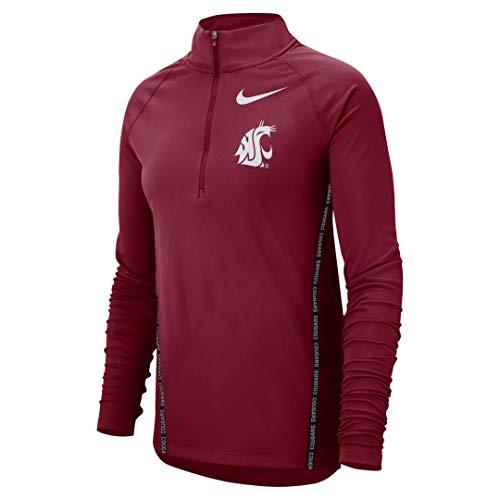 Nike Washington State Cougars Dri-Fit Women's Half-Zip Core Jacket (X-Large)