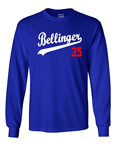 Dodgers Fashion T-shirt - The Silo LONG SLEEVE BLUE Los Angeles Bellinger