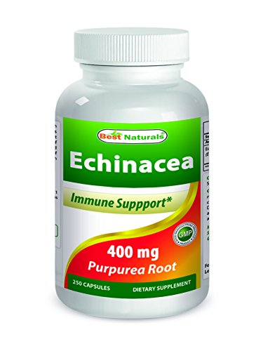 Best Naturals Echinacea 400 mg 250 Capsules by Best Naturals