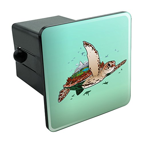 Sea Turtle Flying Tow Trailer Hitch Cover Plug Insert 2