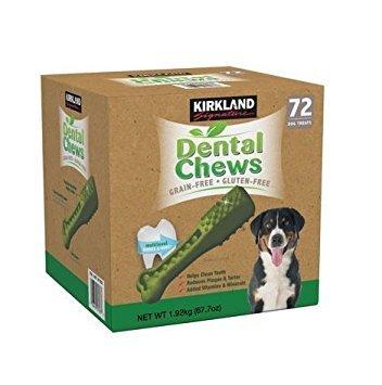 Kirkland Signature Dental Chews 72 Dog Treats by Kirkland Signature