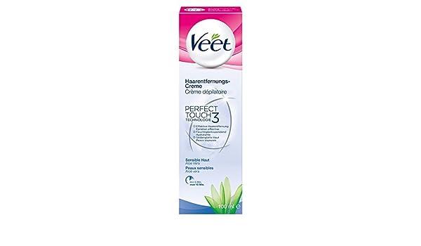 Veet Crema Depilatoria para la piel sensible con Aloe Vera Paquete de 3: Amazon.es: Salud y cuidado personal