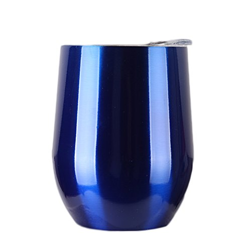 Stainless Steel Wine Glasses, 9 OZ Vacuum Break Resistant Outdoor Drinkware - Type Heat Preservation Cup Great Tumbler for Red Wine, Cocktail and Nonalcoholic Beverages (Blue) -