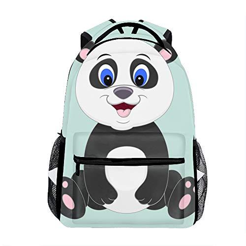 Student Backpack School Bag Cute Cartoon Panda Isolated Print Backpack