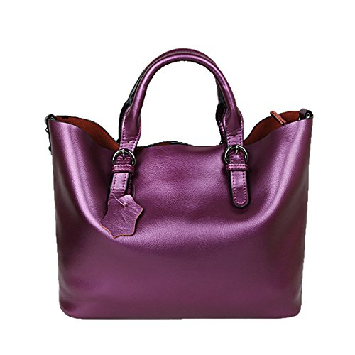 Purple2 Bolso Bolso De La Mimi Bolso Bolso Manija Purple1 De GSHGA Superior De De Moda De Diagonal Grande Del Hombro Bolsos La Cuero xYw1PpSq