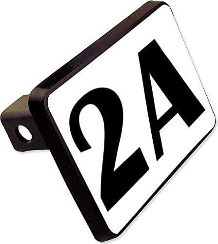 2nd Amendment 2A Trailer Hitch Cover Plug Funny Novelty